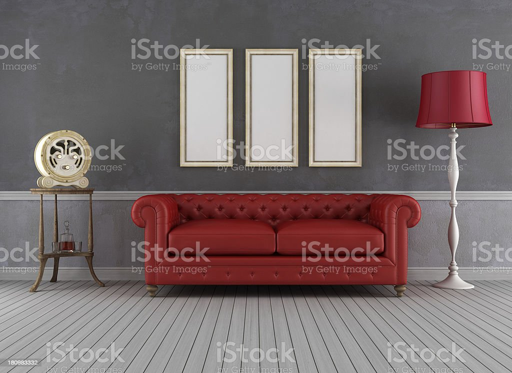 Vintage living room royalty-free stock photo