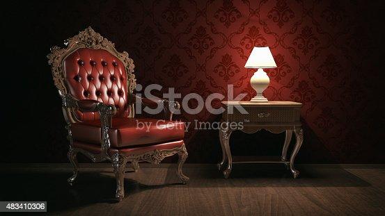 istock Vintage living room 483410306