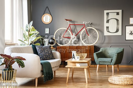 istock Vintage living room with vibes 967130988