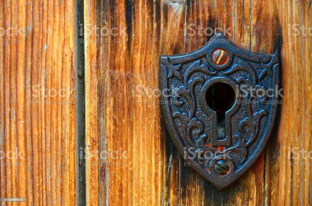 Vintage Lock Close Up stock photo