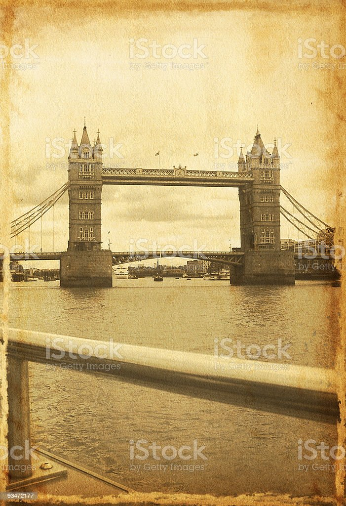Vintage London Bridge royalty-free stock photo