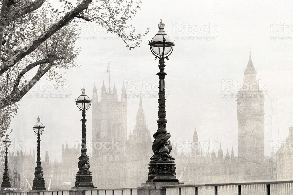 Vintage London stock photo