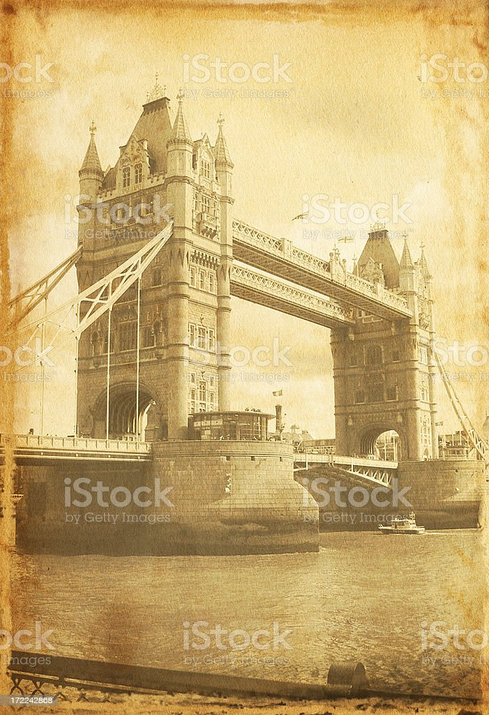 Vintage London/Tower Bridge royalty-free stock photo