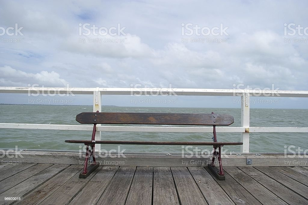 vintage looking pier royalty-free stock photo