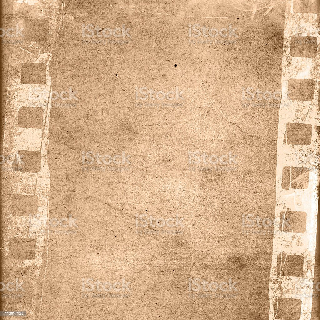 Vintage looking tan film frame stock photo