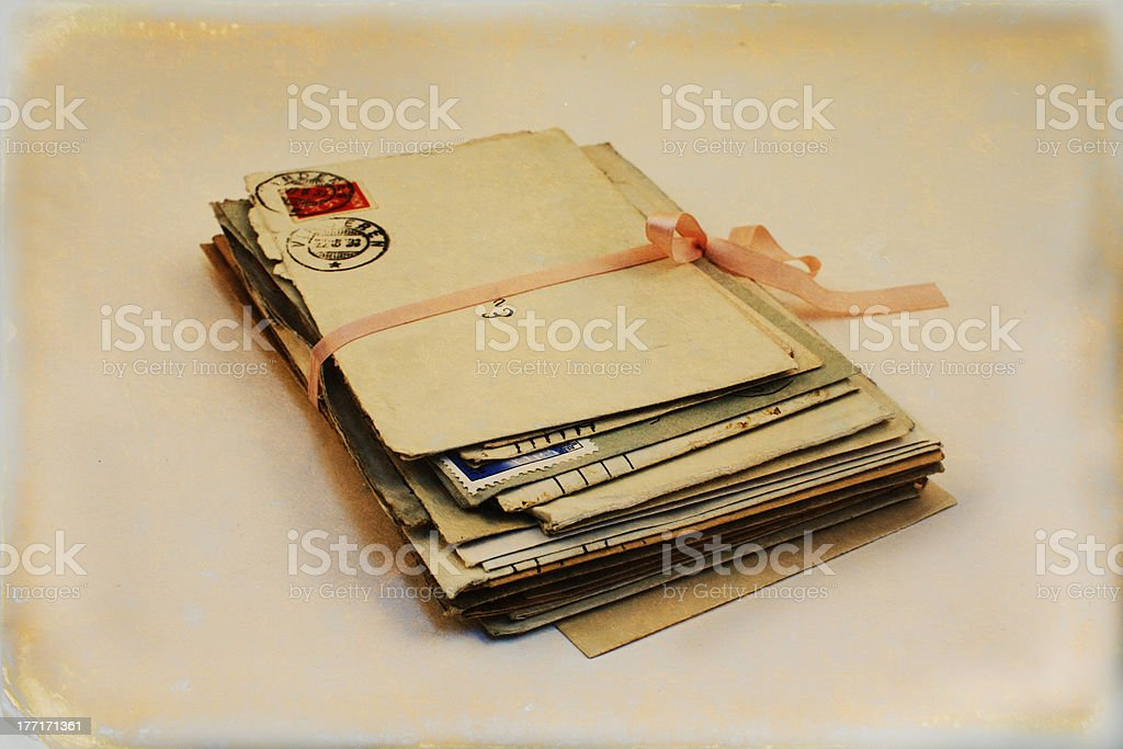 Vintage love letters to Eva. royalty-free stock photo