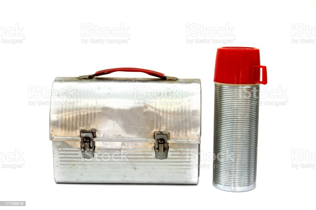 Vintage lunch box royalty-free stock photo