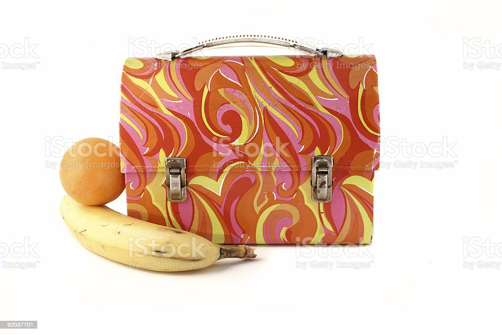 vintage lunchbox royalty-free stock photo