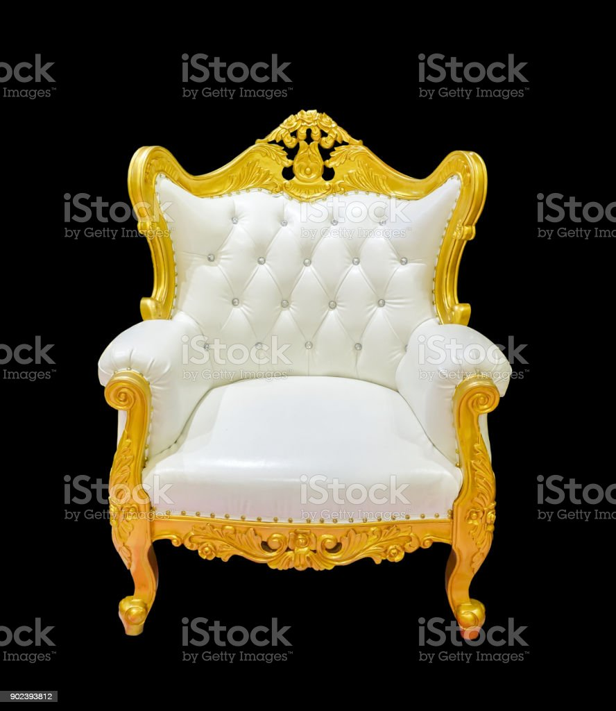 Vintage Luxury Golden Chair Royalty Free Stock Photo