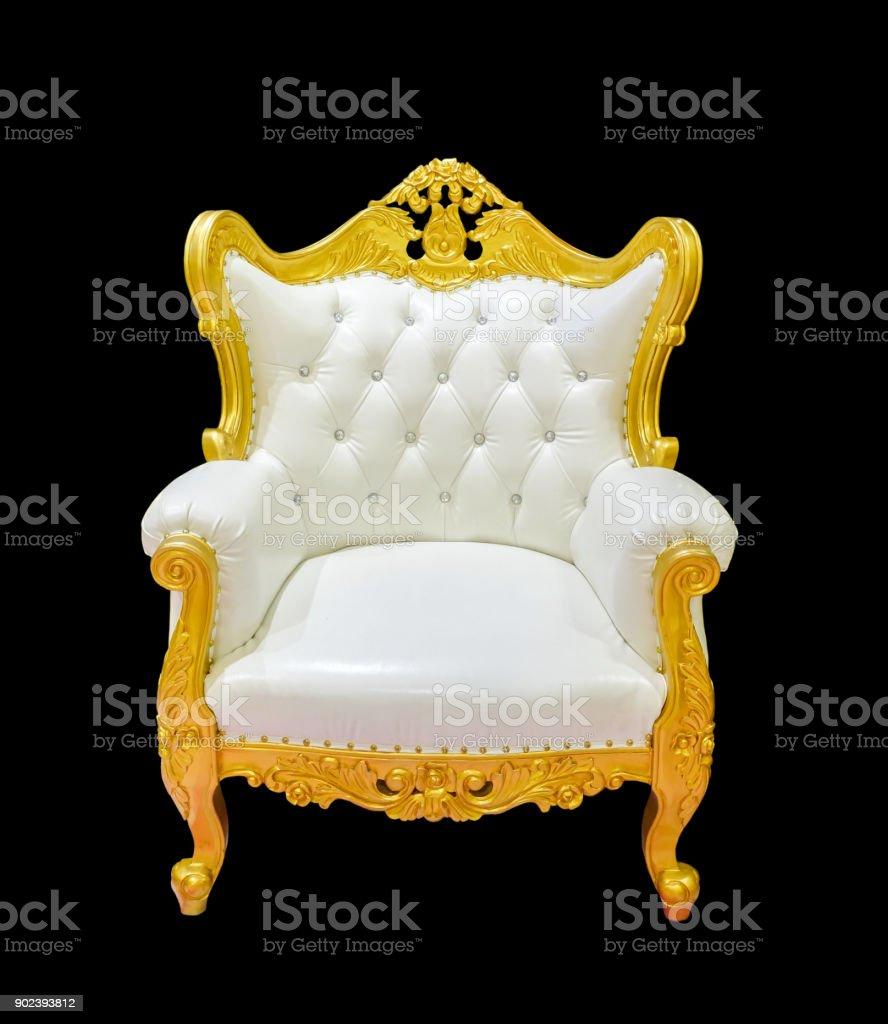 Vintage Luxus goldener Stuhl – Foto