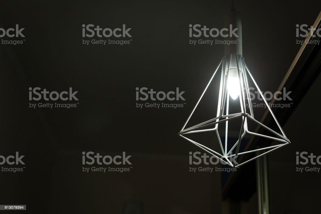 Vintage luxury interior lighting lamp for home decor stock photo