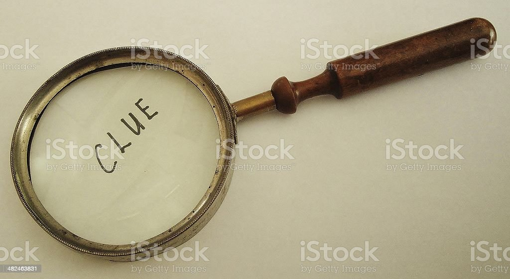 Vintage Magnifying Glass stock photo