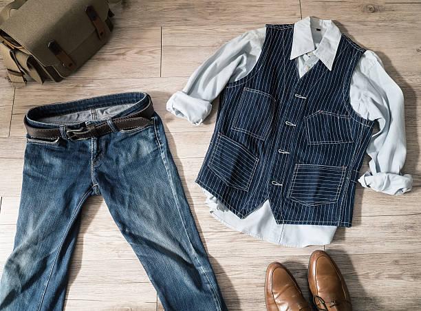 Vintage male clothing stock photo