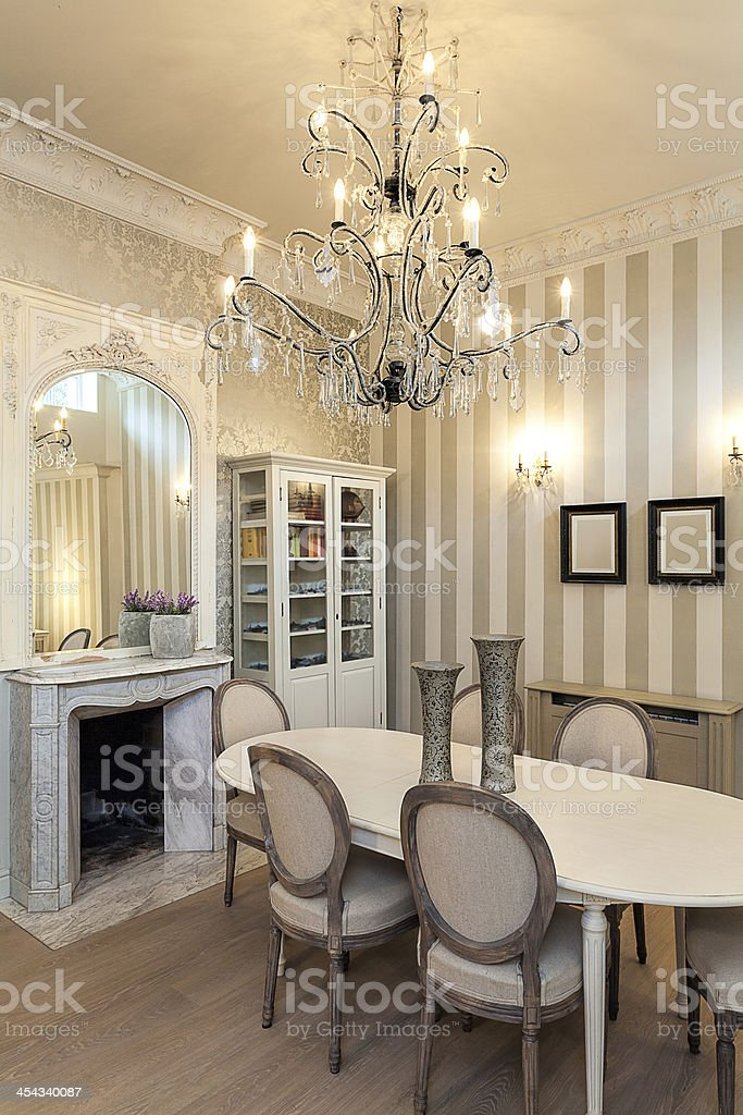 Vintage mansion - luxurious interior royalty-free stock photo