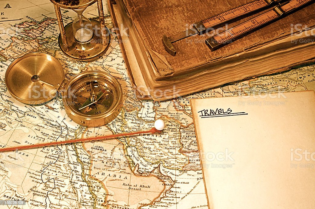 Vintage Map and Chart royalty-free stock photo