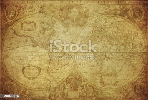 istock vintage map of the world 1630 155969376