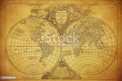 istock vintage map of the world 1752 520565949