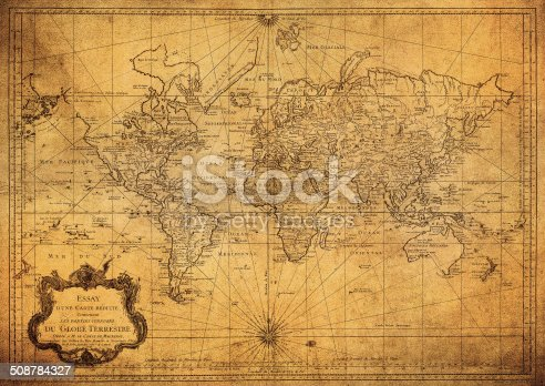 istock vintage map of the world 1778 508784327