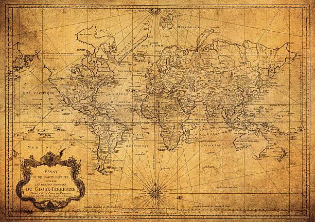 vintage carte du monde 1778 - antique photos et images de collection