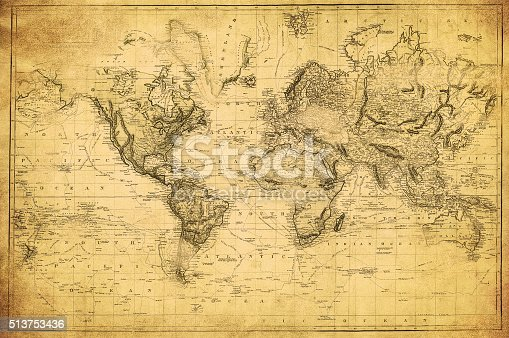 istock vintage map of the world 1831 513753436