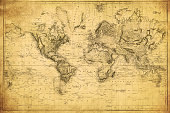 vintage map of the world 1831