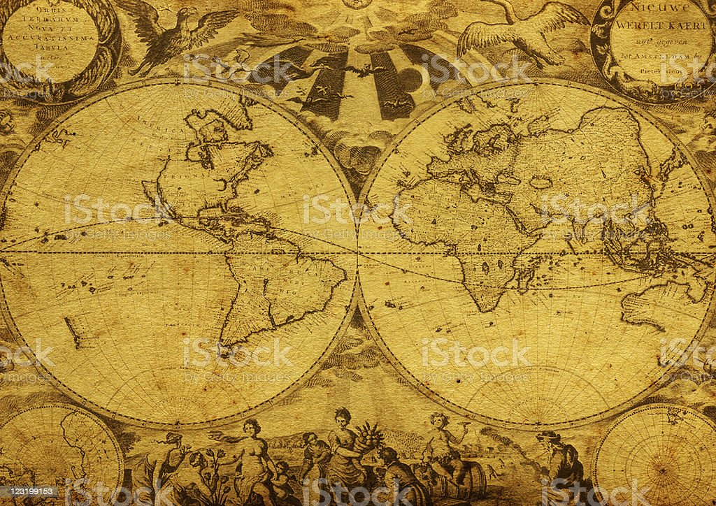 Vintage map. royalty-free stock photo