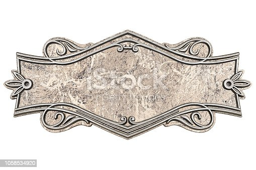 1058533662 istock photo Vintage marble plaque isolated on white background 1058534920