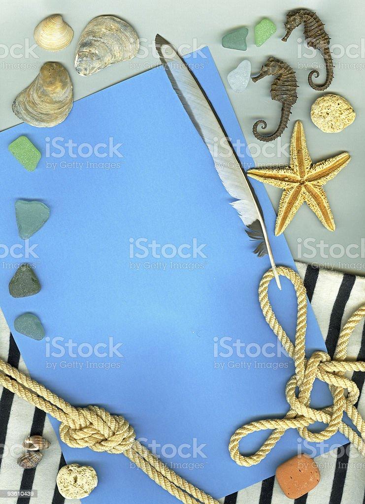 Vintage marine background royalty-free stock photo