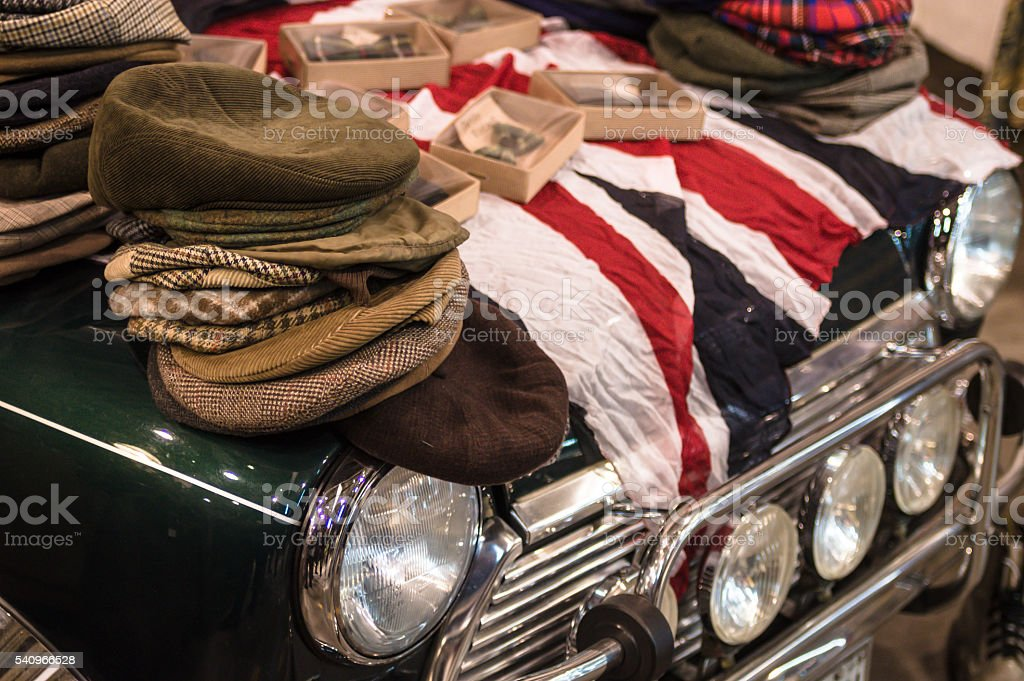 Vintage market in Florence stock photo