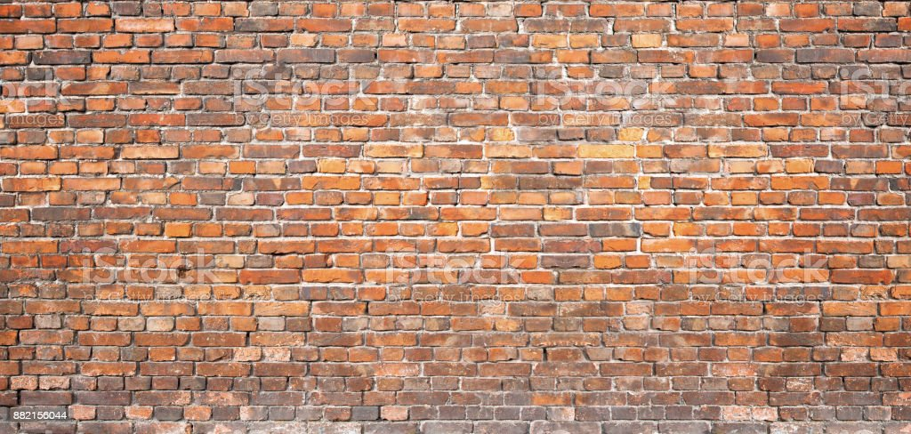 iStock & Vintage Masonry Red Brick Wall Background For Design Stock Photo - Download Image Now
