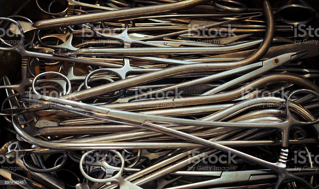 Vintage medical tools stock photo