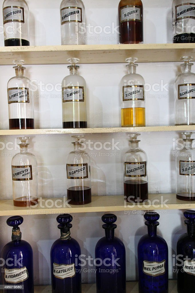 Vintage medicine stock photo