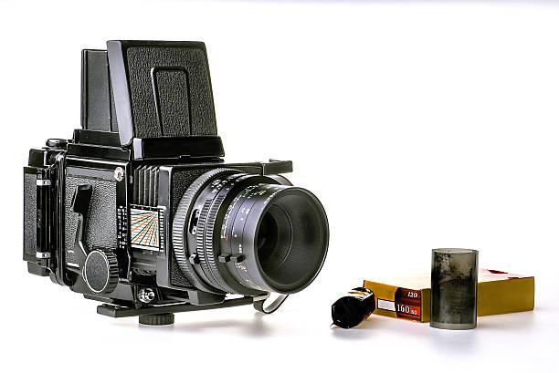 vintage medium 120 format camera... - sinn uhren stock-fotos und bilder
