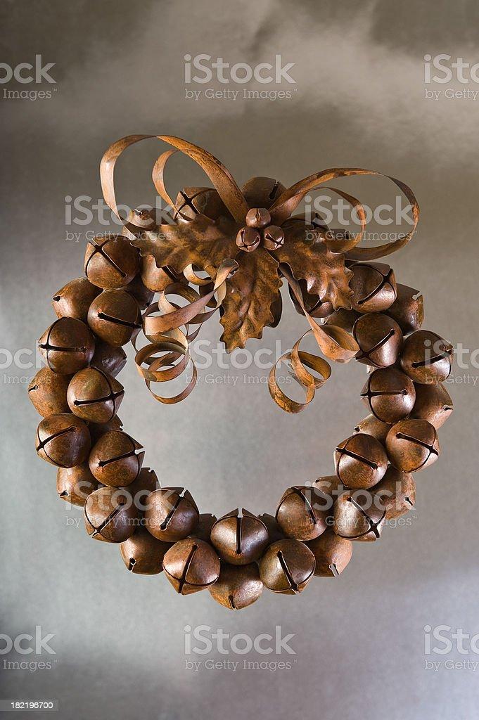 Vintage metal christmas wreath. royalty-free stock photo
