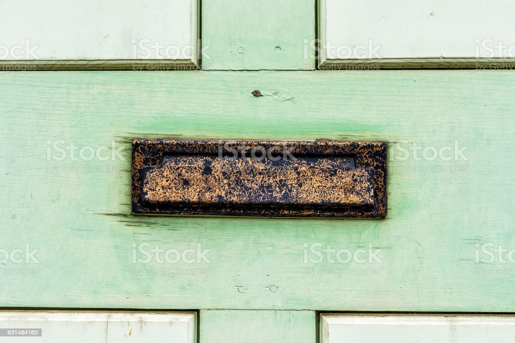 Tiroir Métal Vintage En Porte Avec Des Bois Vert Verni Photos Et