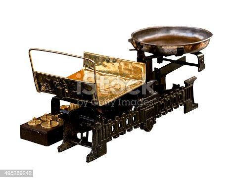 istock vintage metal scales 495289242