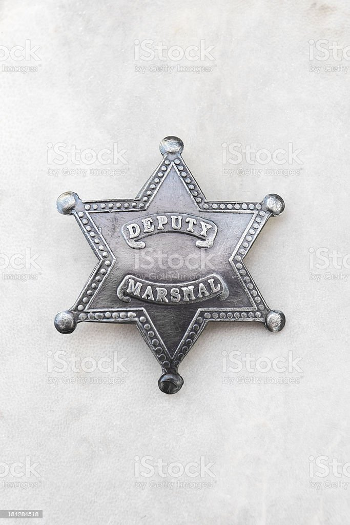 Vintage metal star badge stock photo