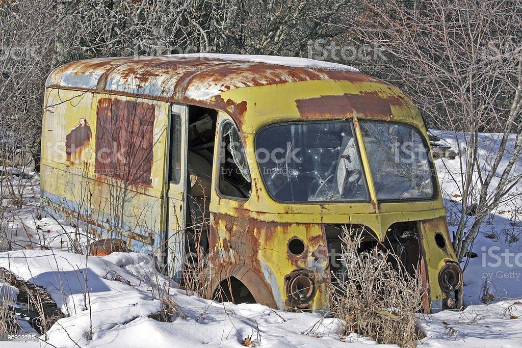 Vintage Metro Van royalty-free stock photo