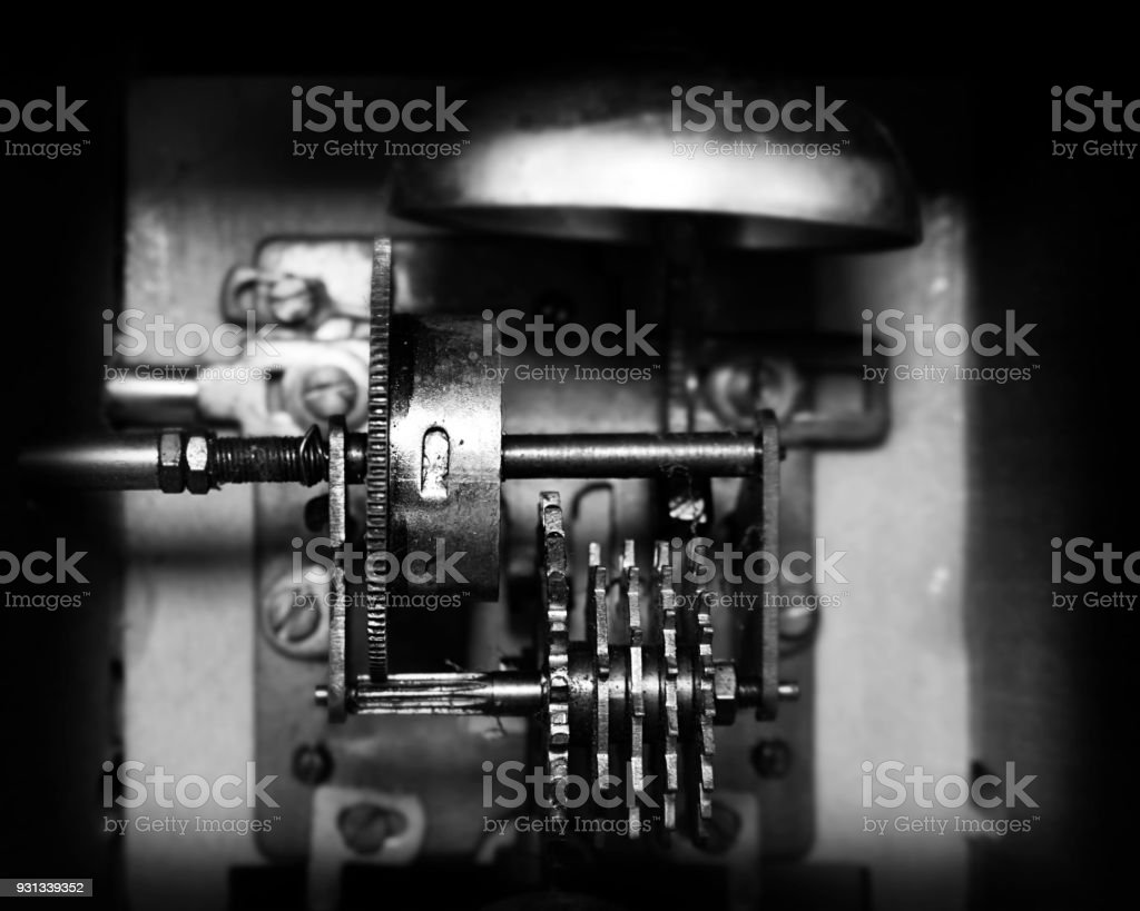 Vintage Metronome Mechanism. Musical Equipment stock photo