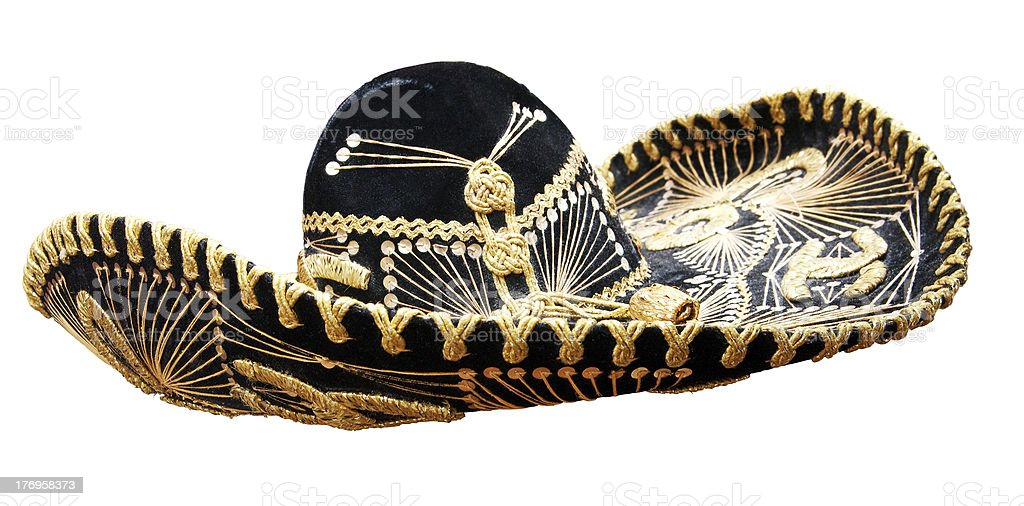 Vintage Mexican Sombrero royalty-free stock photo