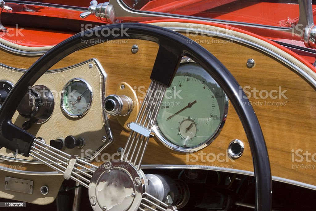 Vintage MG - British Car royalty-free stock photo
