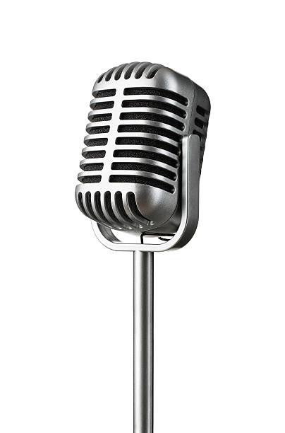 Vintage microphone stock photo