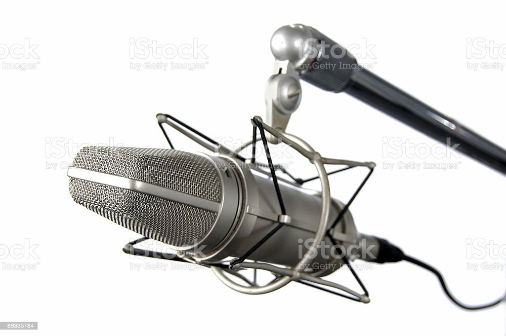 Vintage Microphone royalty-free stock photo