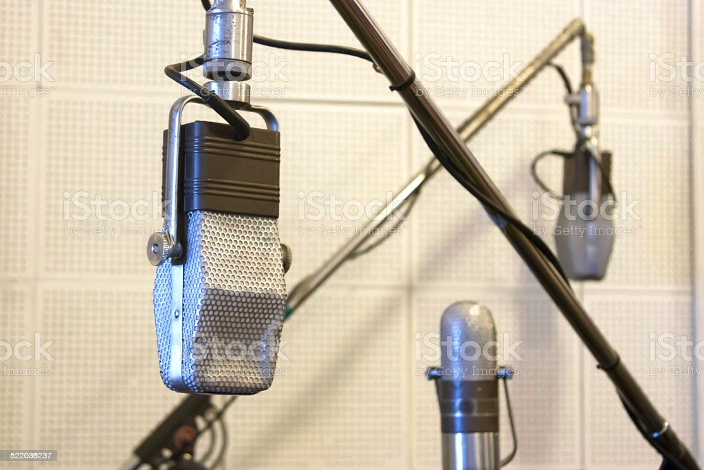 Vintage Microphones stock photo