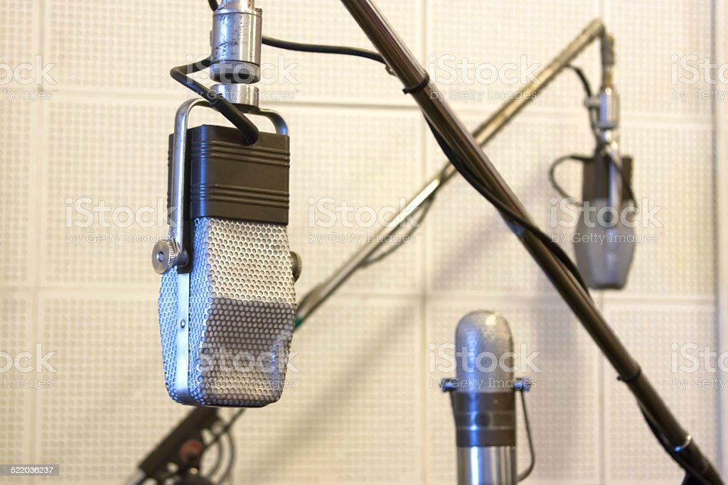 Vintage microfones - foto de acervo