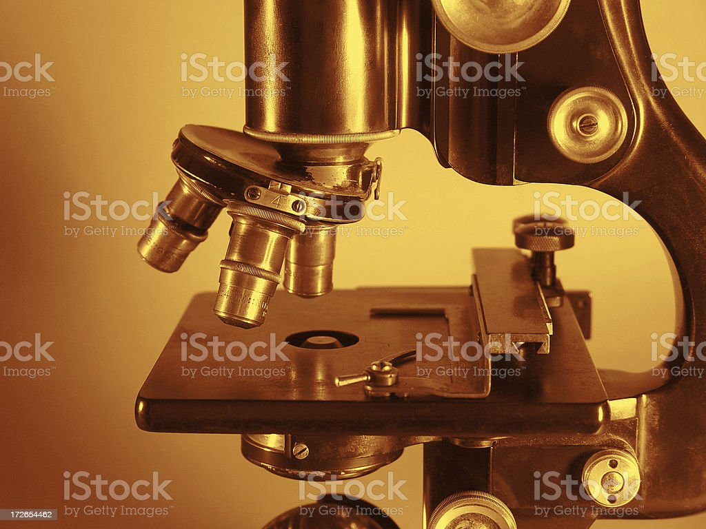 Vintage Microscope royalty-free stock photo