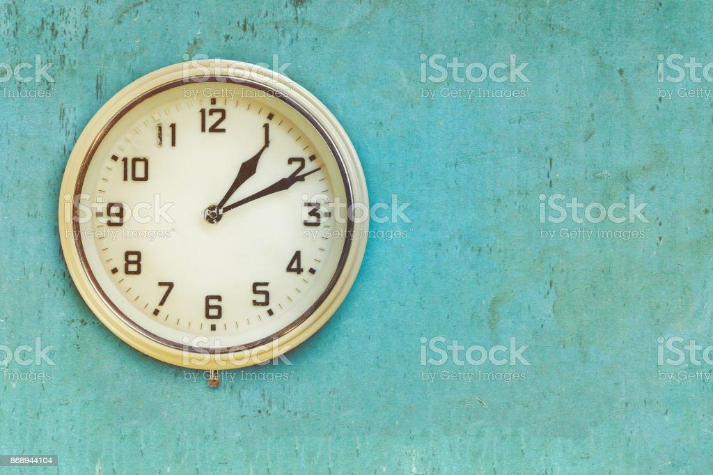 Vintage mid twentieth century plastic electric clock stock photo