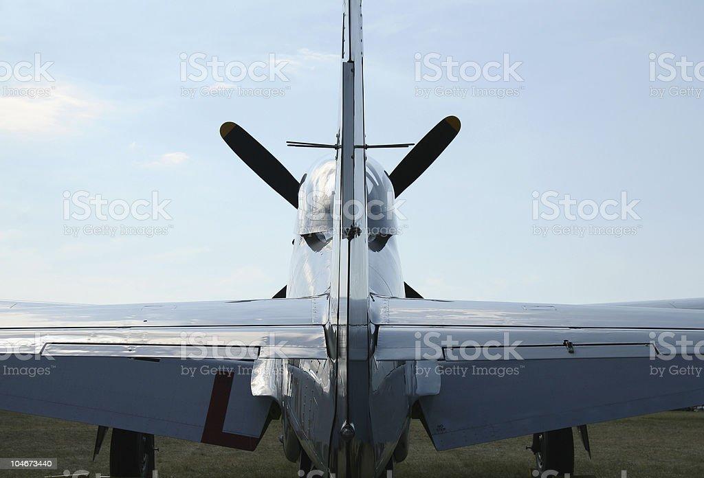 Vintage military aircraft royalty-free stock photo