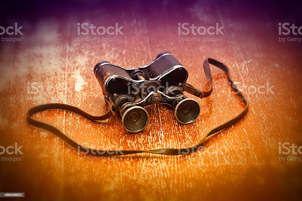 Vintage military binoculars since the Second World War royalty-free stock photo