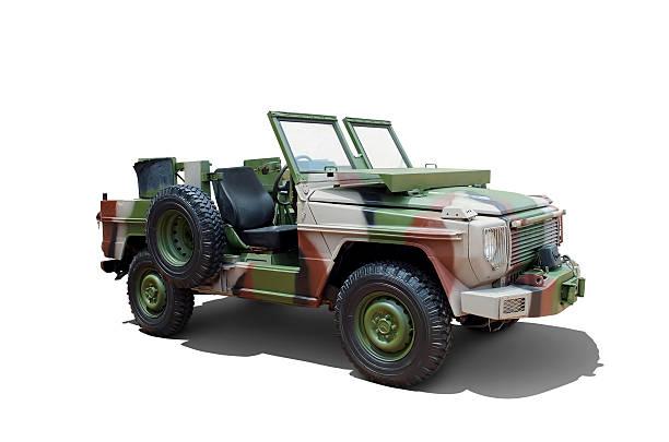 vintage Military utility vehicle stock photo